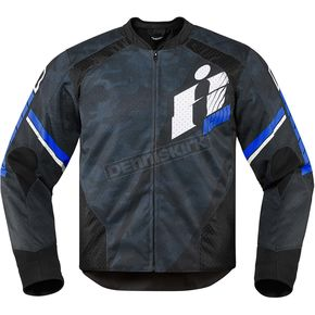 Icon Black/Blue Overlord Primary Jacket - 2820-3638