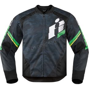 Icon Black/Green Overlord Primary Jacket - 2820-3643