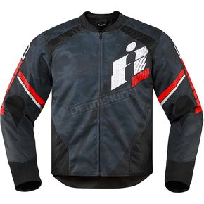 Icon Black/Red Overlord Primary Jacket - 2820-3649