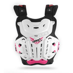 Women's White/Pink Jacki 4.5 Chest Protector - 5016300100