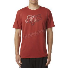 Fox Red Riders Crew Tech T-Shirt - 16401-122-S