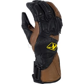 Klim Brown Long Adventure Gloves - 5032-001-160-900