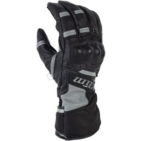 Klim Black/Gray Long Quest Gloves - 3377-000-160-600