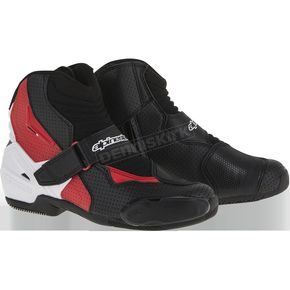 Alpinestars Black/White/Red Vented SMX-1R Boot - 2224016-123-43