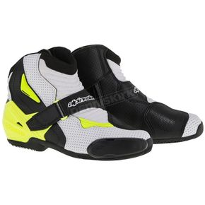 Alpinestars Black/White/Yellow Vented SMX-1R Boot - 2224016-125-46