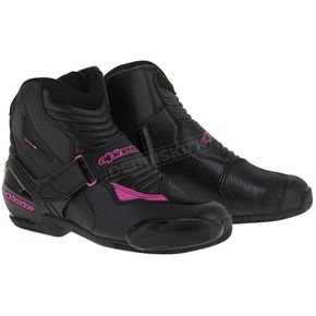 Alpinestars Women's Black/Pink Stella SMX-1R Boot - 2224616-1039-40