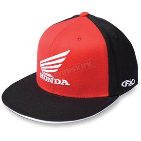 Factory Effex Black/Red Honda Big Wing Flex-Fit Hat - 15-88344