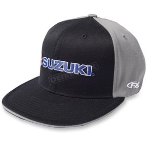 Factory Effex Black/Gray Team Suzuki Flex-Fit Hat - 15-88454