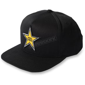 Factory Effex Black Rockstar Star Snapback Hat - 18-86602