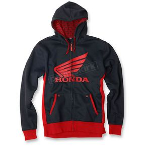 Factory Effex Black/Red Honda Limit Zip Up Hoody - 15-88356