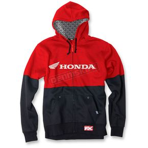 Factory Effex Red/Black Honda Double Zip-Up Hoody - 15-88362