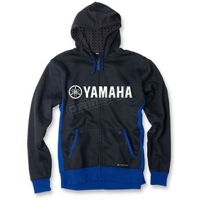 Factory Effex Blue/Black Yamaha Lined Zip-Up Hoody - 16-88246