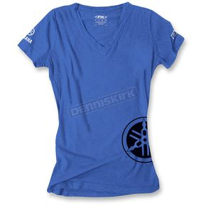 Factory Effex Women's Royal Blue Yamaha  V-Neck T-Shirt - 17-87244