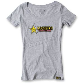 Factory Effex Women's Gray Rockstar Split T-Shirt - 17-87672