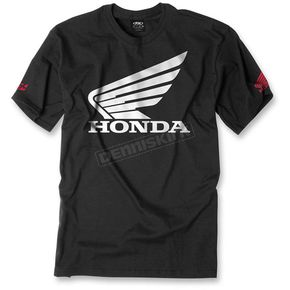 Factory Effex Black Honda Big Wing T-Shirt - 15-88314