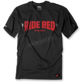 Factory Effex Black/Red Honda Ride Red Bolt T-Shirt - 16-88320
