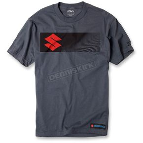 Factory Effex Charcoal Suzuki S-Bar T-Shirt - 16-88426