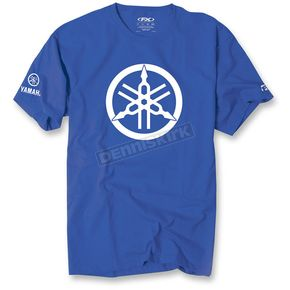 Factory Effex Royal Blue Yamaha 2D Tuning Fork Premium T-Shirt - 17-87274