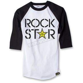 Factory Effex White/Black Rockstar Duplex Baseball T-Shirt - 18-87648