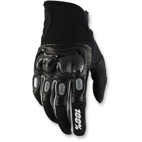 100% Black/Gray Derestricted Gloves - 10007-001-11