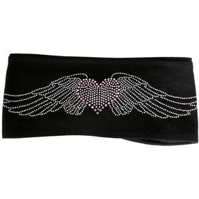 Hot Leathers Heart Wing Bling Wrap - RWC1003