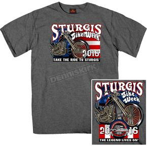 Hot Leathers Dark Grey Sturgis King and Queen T-Shirt - SPM1496-M