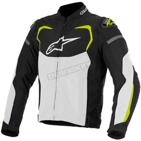 Alpinestars Black/White/Fluorescent Yellow T-GP Pro Air Textile Jacket - 3305116-125-L