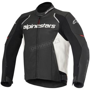 Alpinestars Black/White Devon Airflow Leather Jacket - 3102116-12-60