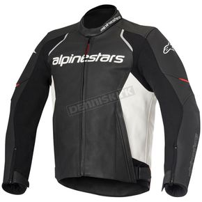 Alpinestars Black/White Devon Leather Jacket - 3102016-12-54