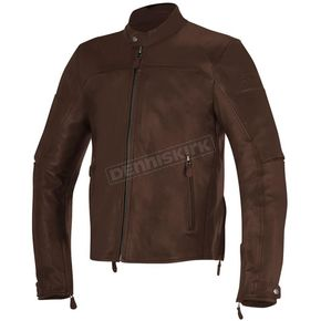 Alpinestars Tobacco Brown Brera Leather Jacket - 3107016-810-48
