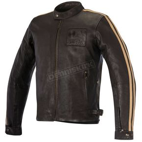 Alpinestars Vintage Brown Sand Charlie Leather Jacket - 3108016-850-M