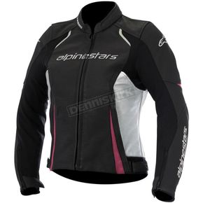 Alpinestars Women's Black/White/Pink Stella Devon Airflow Leather Jacket - 3112116-1239-46