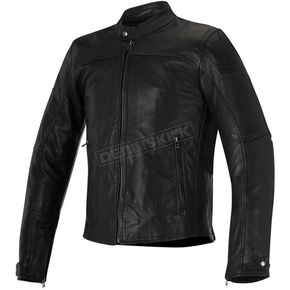 Alpinestars Black Brera Airflow Leather Jacket - 3107116-10-56