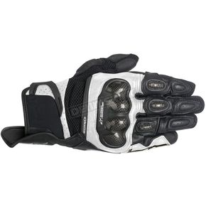 Alpinestars Black/White SPX Air Carbon Gloves - 3567316-12-3XL