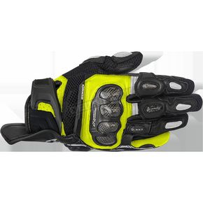 Alpinestars Black/Yellow SPX Air Carbon Gloves - 3567316-155-M