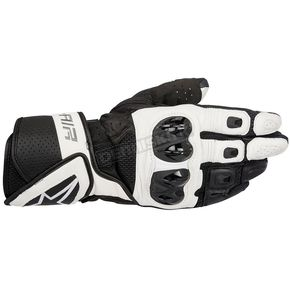 Alpinestars Black/White SP Air Leather Glove - 3558016-12-XL