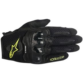Alpinestars Black/Yellow SMX-1 Air Glove - 3570516-155-S