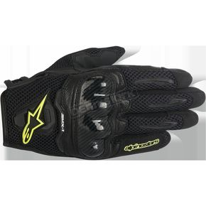 Alpinestars Women's Black/Yellow Stella SMX-1 Air Glove - 3590516-155-L