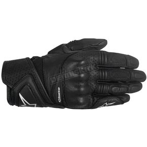 Alpinestars Women's Black Stella Baika Leather Glove - 3518916-10-XL