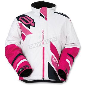 Arctiva Women's White/Pink Comp Insulated Jacket - 3121-0576