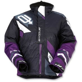 Arctiva Women's Black/Purple Comp Insulated Jacket - 3121-0580