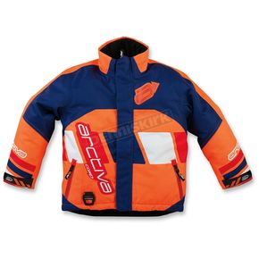 Arctiva Youth Navy/Orange Comp Insulated Jacket - 3122-0319