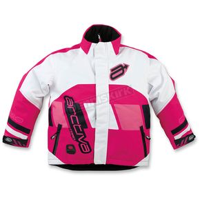 Arctiva Youth Pink/White Comp Insulated Jacket - 3122-0330
