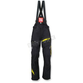 Arctiva Black/Hi-Vis Yellow Vibe Shell Bibs - 3130-1064