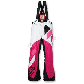 Arctiva Women's White/Pink Comp Insulated Bib - 3131-0462