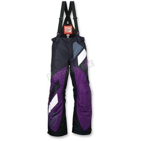 Arctiva Women's Black/Purple Comp Insulated Bib - 3131-0470