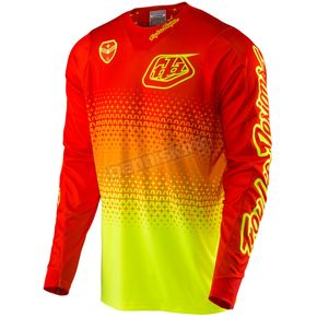 Troy Lee Designs Fluorescent Yellow/Orange SE Air Starburst Jersey - 302013572
