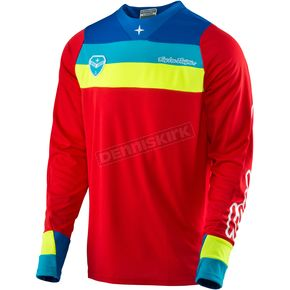 Troy Lee Designs Red SE Corsa Jersey - 303133403