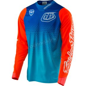 Troy Lee Designs Cyan/Blue SE Starburst Jersey - 303013336