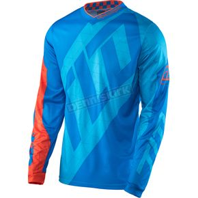 Troy Lee Designs Cyan/Orange GP Quest Jersey - 307130073